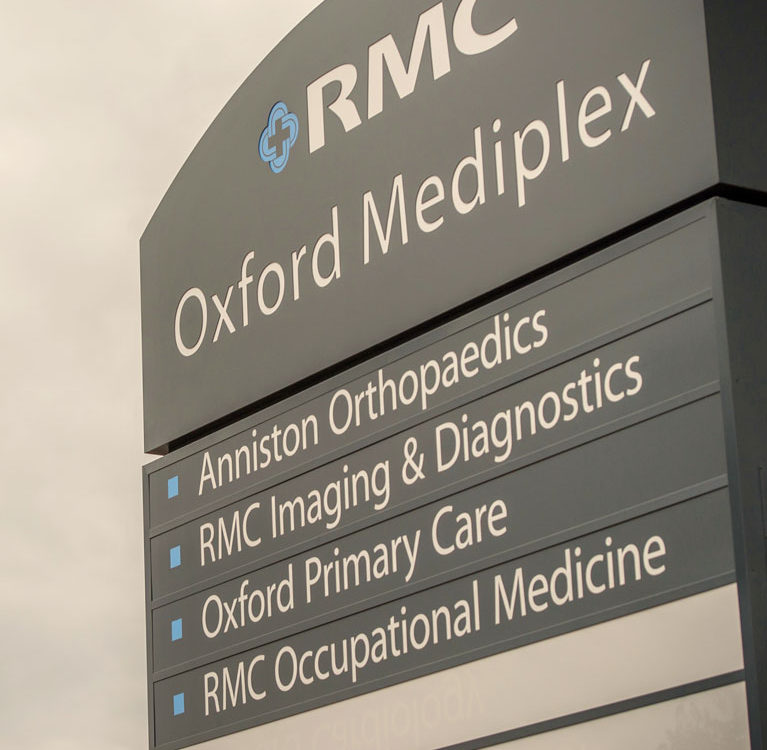 RMC Oxford Mediplex sign